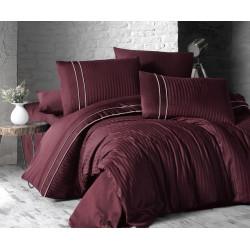 Спално бельо делукс сатен - STRIPE STYLE BORDO от StyleZone