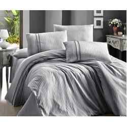 Спално бельо делукс сатен - STRIPE STYLE GRI от StyleZone