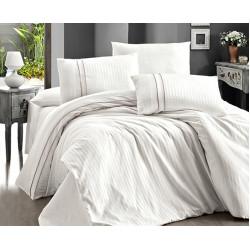 Спално бельо делукс сатен - STRIPE STYLE KREM от StyleZone
