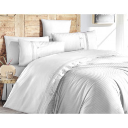 Лимитирана колекция спално бельо от 100% памук - MEAGEN BEYAZ от StyleZone
