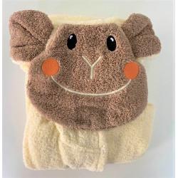 Детски халат за баня 100% Микропамук - МАЙМУНКА от StyleZone