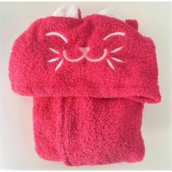 Детски халат за баня 100% Микропамук - РОЗОВО КОТЕ от StyleZone
