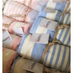 Стилна плажна кърпа от 100% памук - РОЗОВА от StyleZone