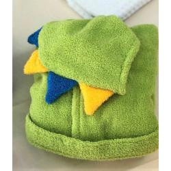 Детски халат за баня 100% Микропамук - ЗЕЛЕН ДИНО от StyleZone