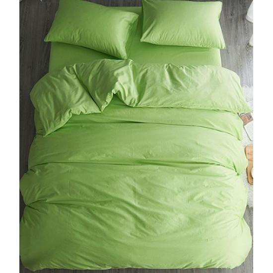 Едноцветно спално бельо от 100% памук ранфорс - ЗЕЛЕНО от StyleZone