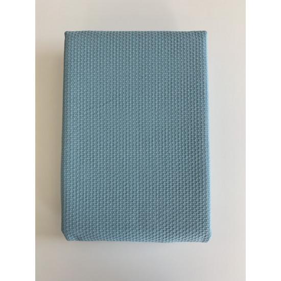 Покривало за легло (тънко шалте) от 100% памук - ПЕТРОЛ ПИ от StyleZone