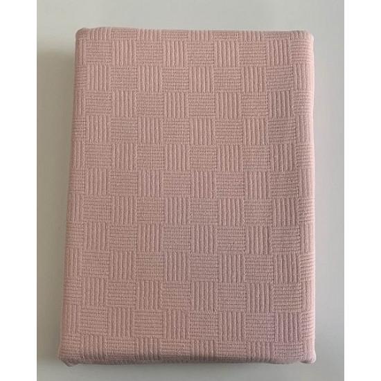 Покривало за легло (тънко шалте) от 100% памук - ПЕПЕЛ ОТ РОЗИ ЛИ от StyleZone