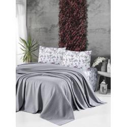 Памучно покривало за легло 3 в 1- СВЕТЛОСИВО от StyleZone