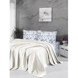 Памучно покривало за легло 3 в 1- БЯЛО от StyleZone