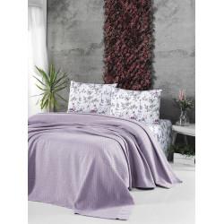 Памучно покривало за легло 3 в 1- НЕЖНО ЛИЛАВО от StyleZone