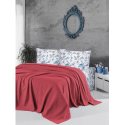 Памучно покривало за легло 3 в 1- КОРАЛ от StyleZone