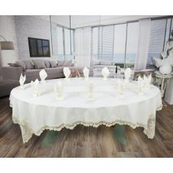 Луксозен Комплект - Покривка за маса с дантела - БЯЛО от StyleZone