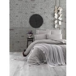 Спално бельо от 100% памук с плетено одеяло - GRAY от StyleZone