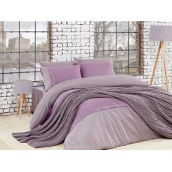 Спално бельо от 100% памук с плетено одеяло - LILA от StyleZone