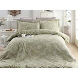 Луксозно спално бельо от 100% сатениран памук - CARMINA YESIL от StyleZone