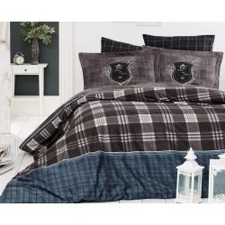 Луксозно спално бельо от 100% сатениран памук - DORIS KAHVE от StyleZone