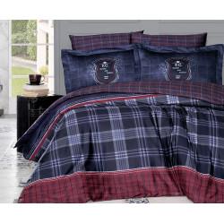 Луксозно спално бельо от 100% сатениран памук - DORIS LACIVERT от StyleZone