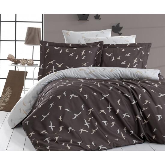 Луксозно спално бельо от 100% сатениран памук - LIBERTA KAHVE от StyleZone