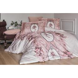 Луксозно спално бельо от 100% сатениран памук - POEMA PUDRA от StyleZone