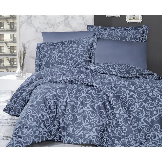 Луксозно спално бельо от 100% сатениран памук - SWETA INDIGO от StyleZone