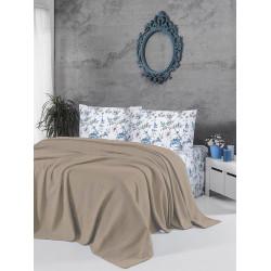 Памучно покривало за легло 3 в 1 - КАПУЧИНО от StyleZone