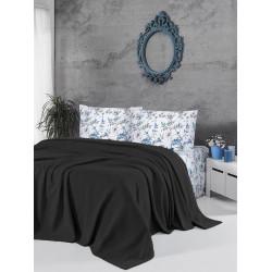 Памучно покривало за легло 3 в 1 - ЧЕРНО от StyleZone