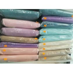 Покривало за легло (тънко шалте) от 100% памук - ЦВЯТ ПРАСКОВА от StyleZone