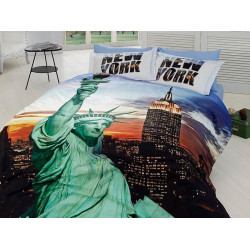3D Спално бельо Памучен сатен - НЮ ЙОРК от StyleZone