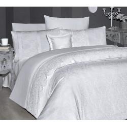 Вип спално бельо от висококачествен сатен - HILLARY BEYAZ от StyleZone