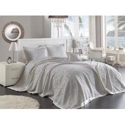 Луксозна кувертюра + три калъфки от 100% памук - PALMIRA KREM от StyleZone