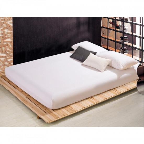 Чаршаф с ластик от памучен сатен - Бяло от StyleZone