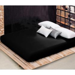 Чаршаф с ластик от памучен сатен - Черно от StyleZone