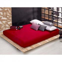 Чаршаф с ластик от памучен сатен - Червено от StyleZone