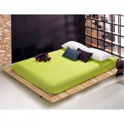 Чаршаф с ластик от памучен сатен - Зелено от StyleZone