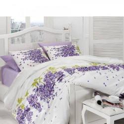 Лимитирана колекция спално бельо от 100% памук - VIOLET FLOWERS от StyleZone