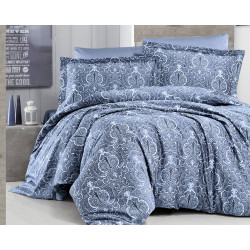Луксозно спално бельо от  сатениран памук- DELMOR INDIGO от StyleZone
