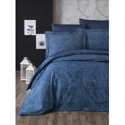 Луксозно спално бельо от  сатениран памук- NEVA PETROL от StyleZone
