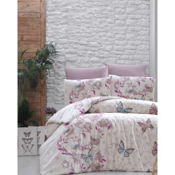 Лимитирана колекция спално бельо от 100% памук - KELEBEK PUDRA от StyleZone
