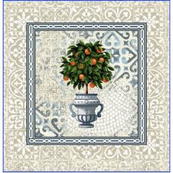 Испанска декоративна калъфка за възглавница с цип - ЦИТРУС от StyleZone