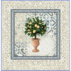 Испанска декоративна калъфка за възглавница с цип - ЛИМОНИ от StyleZone