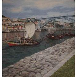 Испанска декоративна калъфка за възглавница с цип - КОРАБ от StyleZone
