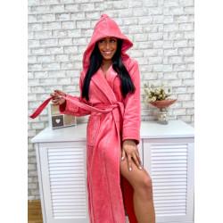 Плюшенo-хавлиен халат за баня 100% памук  - ЖЪЛТ от StyleZone