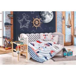 Бебешко спално бельо от 100% памук поплин - BABY SAILOR BLUE от StyleZone