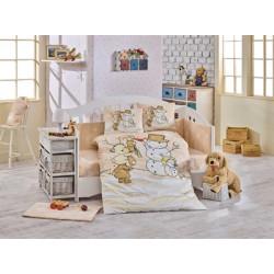 Бебешко спално бельо от 100% памук поплин - SNOWBALL BEJ от StyleZone