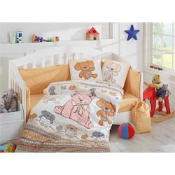 Бебешко спално бельо от 100% памук поплин - TOMBIK YELLOW от StyleZone