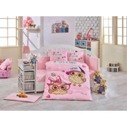 Бебешко спално бельо от 100% памук поплин - COOL BABY PINK от StyleZone