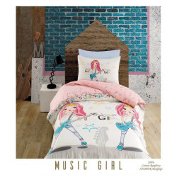 Юношеско спално бельо делукс от 100% памук  -  MUSIC GIRL от StyleZone