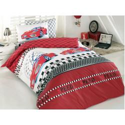 Юношеско спално бельо делукс от 100% памук  - RED FERRARI от StyleZone