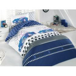 Юношеско спално бельо делукс от 100% памук  - BLUE  FERRARI от StyleZone