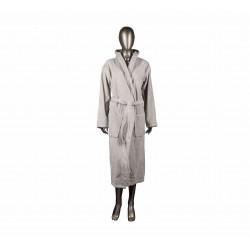 Луксозен халат за баня MIKA - СВЕТЛОСИВ от StyleZone